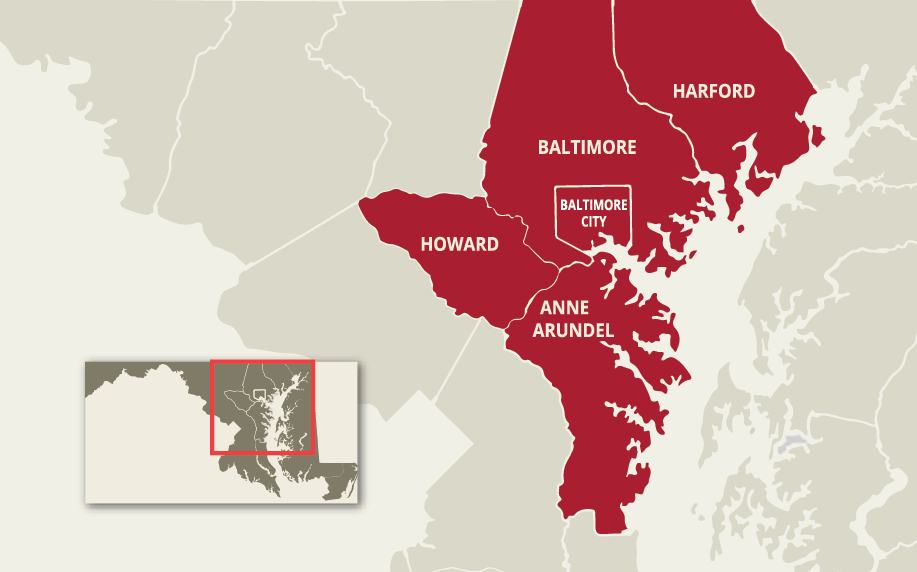 Map of Central Maryland